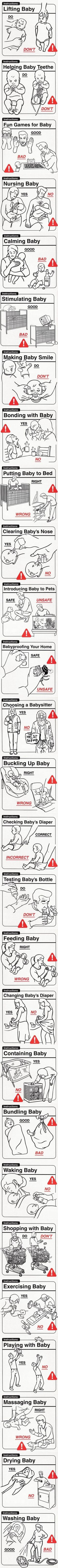 Baby Do's and Don'ts. What to do and NOT when having a #baby.... #fun interesting information mostly for dads. lol