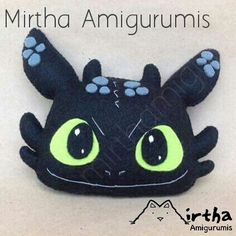 Nightfury plushie by @mirthamigurumis #Nightfury #chimuelo #felt #Guayaquil