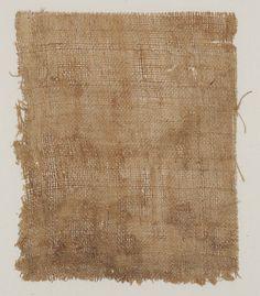 Fragment of bast fiber textile, possibly hemp, Japanese (Nara period), 8th century