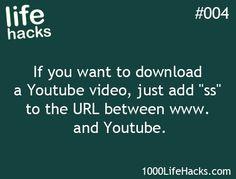 Life Hacks YouTube Download from 1000lifehacks.com