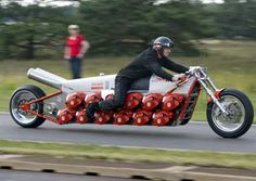 Bike with 24 chainsaw engines!