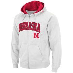 Nebraska Cornhuskers Stadium Athletic Arch & Logo Full Zip Hoodie - White