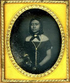 Daguerreotype of Victoria Kamamalu, ca 1853, Hawaiian Royal Princes.