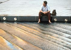Water cascade steps in Potsdamer Plaza, Berlin by ATELIER DREISEITL