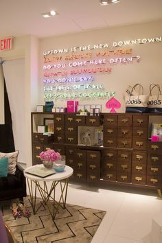Madeline Weinrib Taupe Silk & Black Shasha Tibetan Carpet in Lonny's trip to Kate Spade New York's New Flagship Store