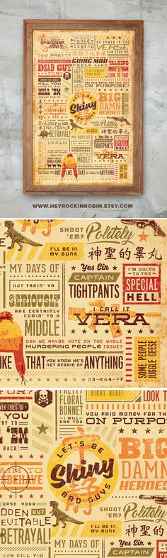 Firefly Serenity Quote Poster Vintage Typography by HeyRockinRobin