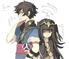 I really wish I could read what this was saying .o. (Lon'qu and Tharja, Fire Emblem: Awakening)