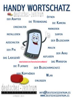 Handy Deutsch Wortschatz Grammatik Alemán German DAF Vocabulario