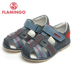 US $20.40 -- FLAMINGO 2016 new arrival summer kids shoes fashion high quality 100% genuine leather children sandals for boy XS4835 aliexpress.com