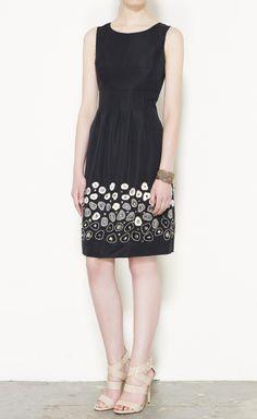 Lela Rose Black And Cream Dress