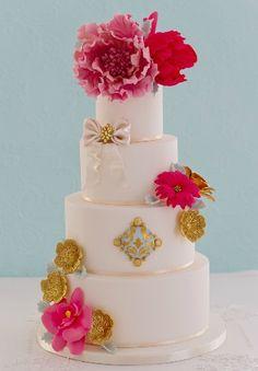 Peony wedding cake by Patricia Arribálzaga