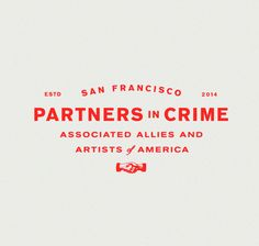 San Francisco Partners in Crime Logo - a little bit of vintage mixed with a bold color