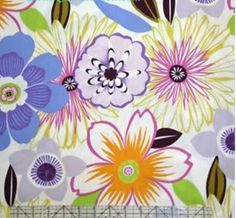 Anemone Retro Bright Large Floral Alexander by MaryMcNultyDesign