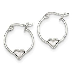 ICE CARATS 925 Sterling Silver Heart Hoop Earrings Ear Hoops Set Love Fine Jewelry Gift For Women Heart *** Learn more by visiting the image link. (This is an affiliate link) #JewelryForSale