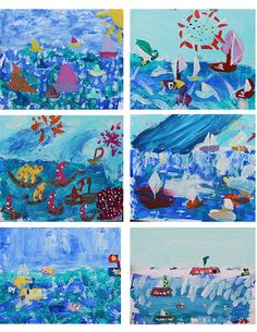 Looking at the work of Fauve artist Raoul Dufy, children 5-8 enjoyed exploring colour, markmaking shape and more to create these expressive harbour inspired paintings
