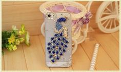 Peacock Rhinestone Iphone Case Cover!