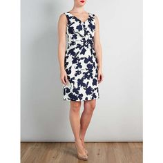 BuyBruce by Bruce Oldfield Opaque Floral Dress, Silver/Navy, 8 Online at johnlewis.com