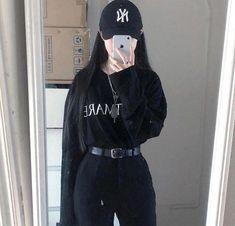 Korean Street Fashion - Life Is Fun Silo Edgy Outfits, Korean Outfits, Grunge Outfits, Grunge Fashion, Fashion Outfits, Fashion Ideas, Fashion Hacks, Fashion Clothes, Fashion Boots