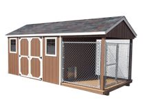 dog kennel--Though, I totally thought WOW cool chicken coop at first.. haha