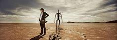 Podcast on Antony Gormley's sculptures at Lake Ballard, outback, Western Australia.