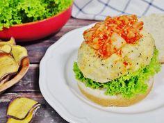 Chicken Tofu Burger Recipe with Kimchi