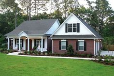 Traditional Exterior - Front Elevation Plan #56-164 - Houseplans.com