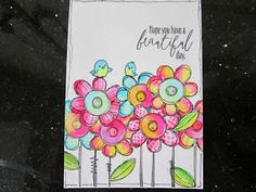 Crafty Card Creation: WPlus 9 Doodle Buds stamp set