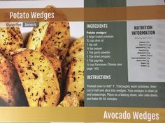 Whole Food Recipes, Healthy Recipes, First Health, Russet Potatoes, Potato Wedges, Trans Fat, How To Dry Oregano, Saturated Fat, Serving Size