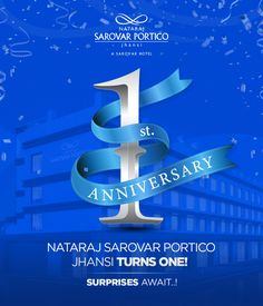 Nataraj Sarovar Portico is located near the Jhansi railway station making it easily accessible to all guests. Nataraja, Grateful For You, First Anniversary, Big Day, First Birthdays, Celebrations, Business, 1st Anniversary, One Year Birthday