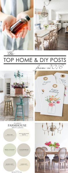 32 Bloggers share their Top Home and DIY Posts from 2016. Study trends and plan ahead for 2017. Tons of decor, DIY and homemaking inspiration!