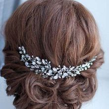 Handmade Beads Crystal Bridal Hair Flower Rhinestone Hair Jewelry Prom Headdress Headpieces Women Girls Wedding Hair Accessories(China (Mainland))