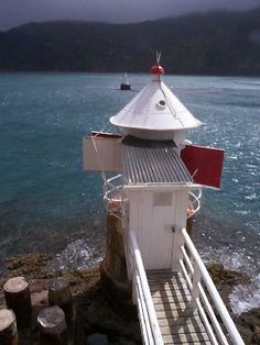 French Pass Lighthouse Kahurangi Point, Cook Strait, South Island, New Zealand. Light Em Up, Point Light, French Pass, Bay Lodge, Safe Harbor, Beacon Of Light, Nightlights, Light House, South Island