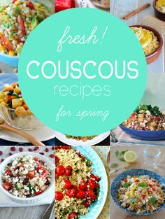 9 Fresh and Healthy Couscous Salads - including recipes with plenty of fruit, veggies, and the classic favorites you love