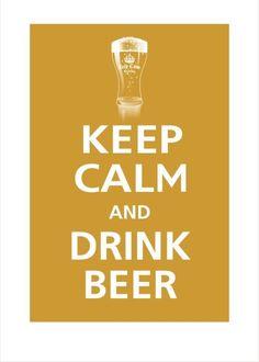 keep calm - drink homebrew