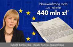 [Rewitalizacja] przyznanie Łodzi 440 mln zł na rewitalizację od roku 2014
