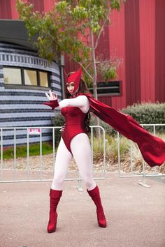 DIY Scarlet Witch Cosplay Progress.... possibly good for other super heroes :D
