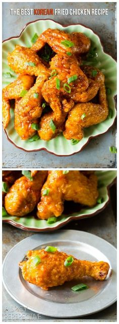 THE BEST Sticky-Sweet Crispy Korean Fried Chicken Recipe you will ever taste! #friedchicken #korean