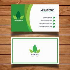グリーン自然名刺設計、実装 無料ベクター