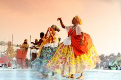 Afro-Brazilian vodoun Folkloric ballerina troupe from Bahia,Brazil at Festival For Black Deities at Aneho-Togo.
