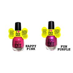 Mommy & Me Dog Nail Polish by Pet Head - Pink and Purple at BaxterBoo