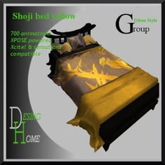 Shoji bed yellow 700+ animations sex bed, Xpose powered, Xcite! and sensations compatible
