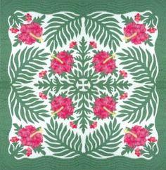 Sooo pretty hibiscus and fern leaf design