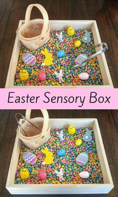 Easter/Spring Sensory Box, Tweezing Activity, Fine Motor   Skills, Gift for Kids, Montessori, Classroom Activity, Teacher Resources #diy #affiliate #easter #spring #kids