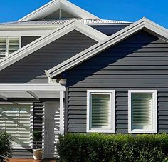 Best Home Exterior Beach Products Ideas Exterior Paint Colors For House, Paint Colors For Home, Exterior Colors, Exterior Design, Paint Colours, Exterior Wall Cladding, House Cladding, Exterior Shutters, Hamptons House