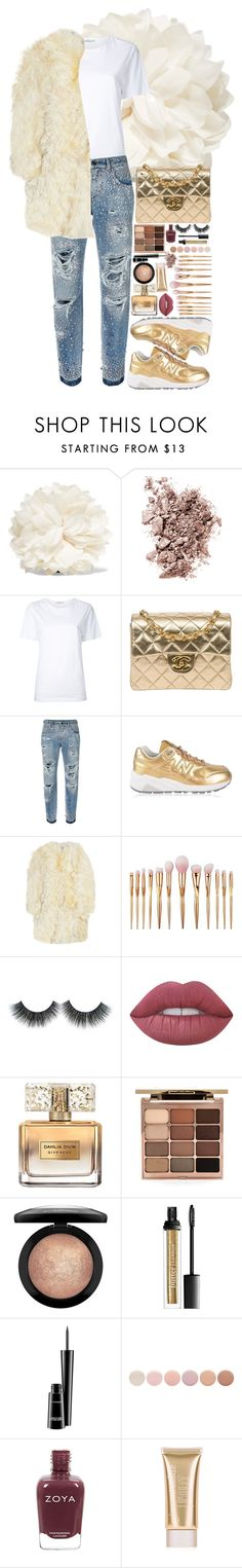 """""""Beauty is in the old, the bold, and all things gold"""" by jooseefiinee ❤ liked on Polyvore featuring Gucci, Chantecaille, Astraet, Chanel, Dolce&Gabbana, New Balance, Yves Saint Laurent, Lime Crime, Givenchy and Stila"""