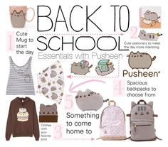 """""""#PVxPusheen"""" by princess13inred ❤ liked on Polyvore featuring Pusheen, BackToSchool, backpack, contestentry, back2school and PVxPusheen"""