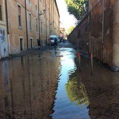Roma Trastevere senz'acqua per un tubo rotto #lavoratori #salari #tasse #roma #stipendo #INPS