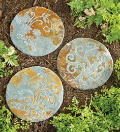 stepping stone pathway ideas | slate stepping stones