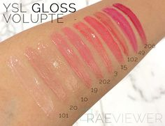 The RAEviewer - A blog about luxury and high-end cosmetics: YSL Gloss Volupté Lip Gloss Collection Photos, First Impressions, Swatches [ALL ...