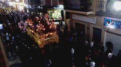 Ntro. Padre Jesús de la Oración en el Huerto de #Linares, por C/ Canalejas a paso de tambor. Vídeo: @santacenero.